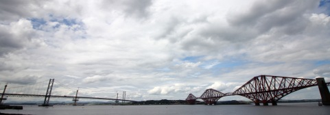 Forth Road Bridge and Forth Train Bridge