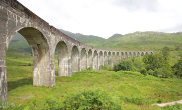 Glenfinnan Viaduct and Train Bridge