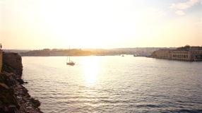 Sunset over Gzira