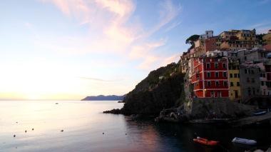 Riomaggiore at sunset