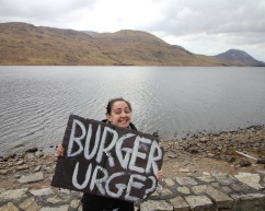 After climbing that mountain to the far right I definitely had a serious burger urge!