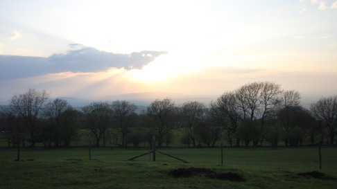 Sunset at Broadway Tower