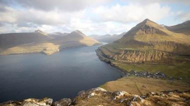 The view in towards Funningsfjørður